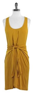 Halston short dress Mustard Yellow Sleeveless on Tradesy
