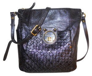 Elliott Lucca Leather Woven Cross Body Bag