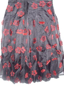 Colvelo Clothing Inc Unique Couture Silk Midi 3 Dimensional Fabulous Skirt