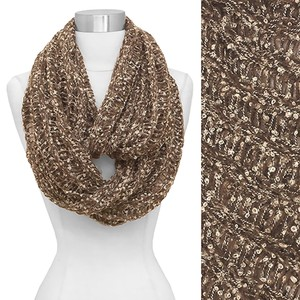 Trendy Women Two Tone Confetti Infinity/Loop Scarf