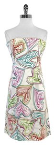 MILLY short dress Heart Print Cotton Strapless on Tradesy