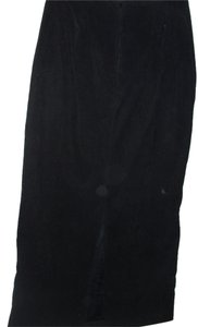 Simply Irresistible Suede Feel Basic Vintage High Waist Maxi Skirt black