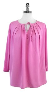Magaschoni Pink Long Sleeve Silk Top