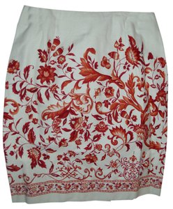Talbots Cotton Print Skirt