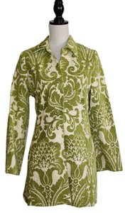 3 Sisters Green Brocade with Rhinestone Buttons Jacket