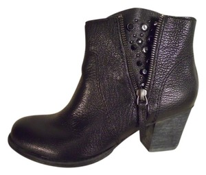 Nine West Leather Studded Ankle black Boots