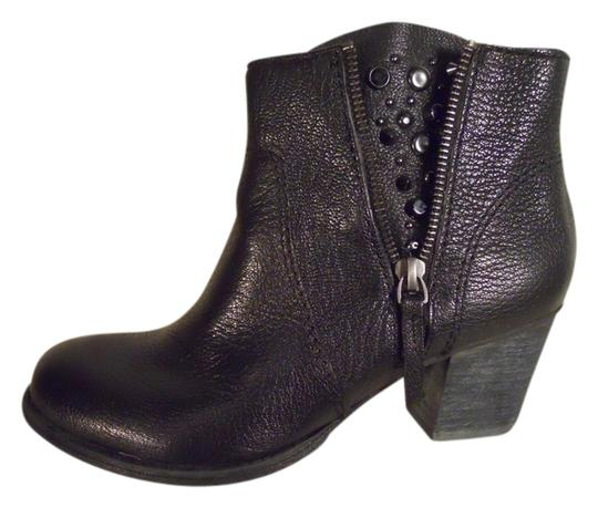 Nine West Leather Studded Ankle black Boots Image 0