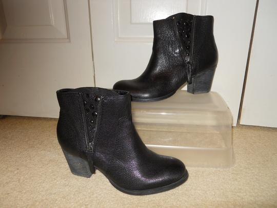 Nine West Leather Studded Ankle black Boots Image 1