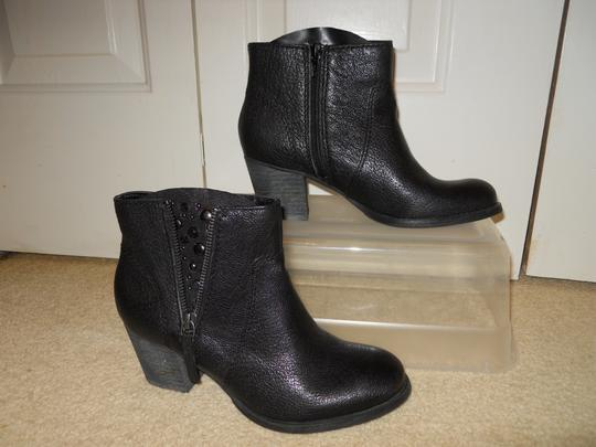 Nine West Leather Studded Ankle black Boots Image 2