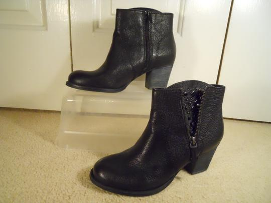 Nine West Leather Studded Ankle black Boots Image 3