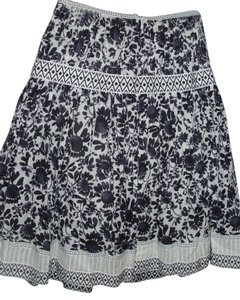 Talbots Cotton Bohemian Graphic Skirt