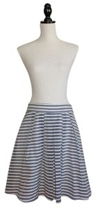 J.Crew Skirt Blue and White Stripe Organza
