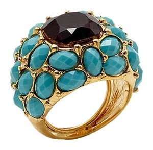 Kenneth Jay Lane Amethyst & Turquoise Dome Ring