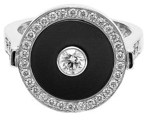 Piaget Piaget 18K White Gold Onyx Diamond Ring G34LC100 US 6