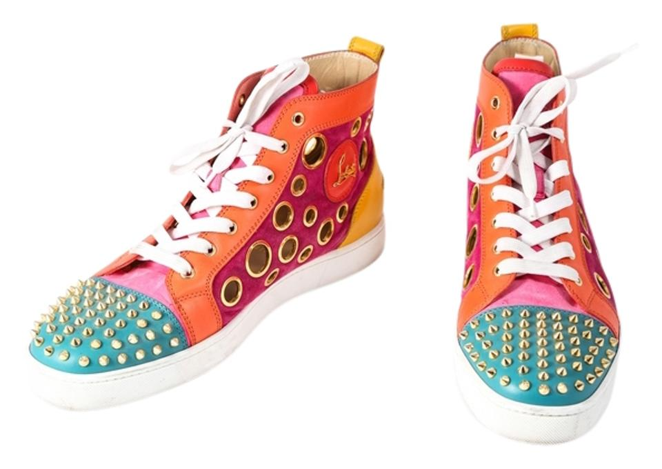 new product 245b1 bf50a Christian Louboutin Multicolor Men's Calf Suede Bubble Spike 45.5 Sneakers  Size US 12.5 Regular (M, B) 29% off retail