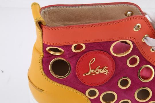 Christian Louboutin Calf Suede Bubble/Spike Milticolor/Gold Mens High Top Multicolor Athletic Image 7
