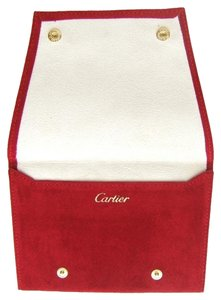Cartier Cartier New Authentic Red Suede Watch Pouch