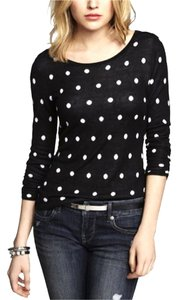Express Polka Dot Scoopneck Longsleeve Sweater