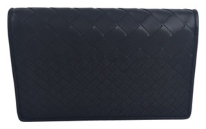 Bottega Veneta Woven Dark Grey Clutch