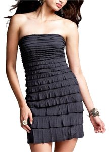 Express Ruffle Strapless Dress