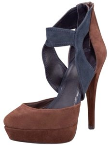 7 For All Mankind Sued Suede Brown Pumps