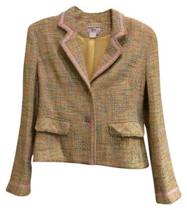 Charles Gray London Pale pink, yellow, white and blue tweed Jacket