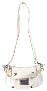 Coach Poppy/groovy Sequence Silvertone Hardware Cross Body Bag