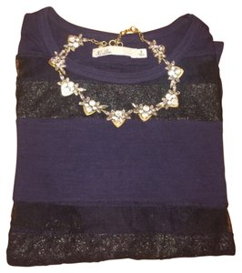 Madewell Top Navy and black