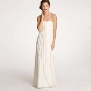 J.Crew Ivory Silk Chiffon Whitney Gown Destination Wedding Dress Size 16 (XL, Plus 0x)