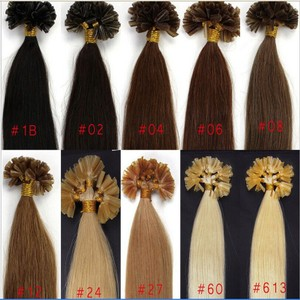 Remy Nail Tip Real Human Hair Extensions Free Shipping