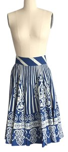 Anthropologie Skirt Blue and linen