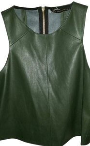 Zara Faux Leather Leather Vest