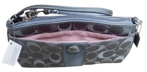 Coach Wristlet in Metalic Gray
