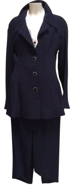Preload https://img-static.tradesy.com/item/13466785/karl-lagerfeld-navy-blue-asymmetric-skirt-suit-size-10-m-0-1-650-650.jpg
