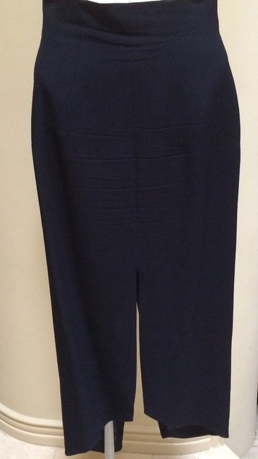 Karl Lagerfeld Karl Largerfeld Navy Blue Asymmetric Suit Image 1