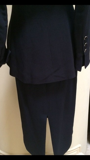 Karl Lagerfeld Karl Largerfeld Navy Blue Asymmetric Suit Image 2