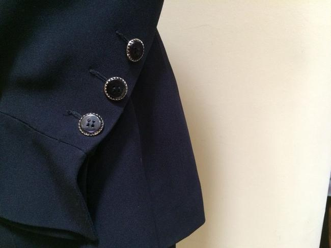 Karl Lagerfeld Karl Largerfeld Navy Blue Asymmetric Suit Image 3