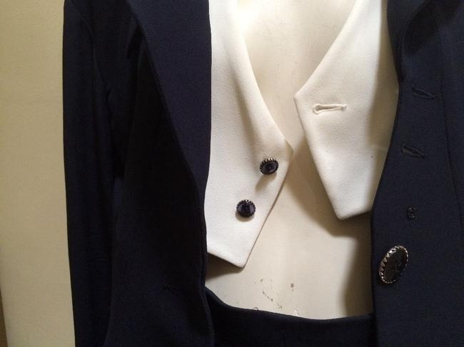 Karl Lagerfeld Karl Largerfeld Navy Blue Asymmetric Suit Image 4