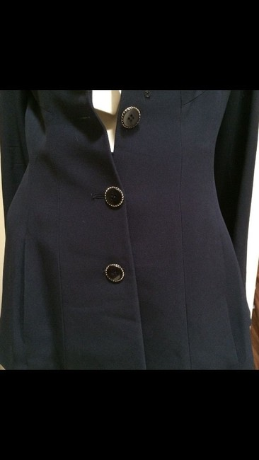 Karl Lagerfeld Karl Largerfeld Navy Blue Asymmetric Suit Image 7