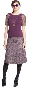 Tory Burch Sparkly Tweed Skirt purple