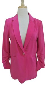 Elizabeth and James Fuchsia 3/4 Sleeve Jacket pink Blazer