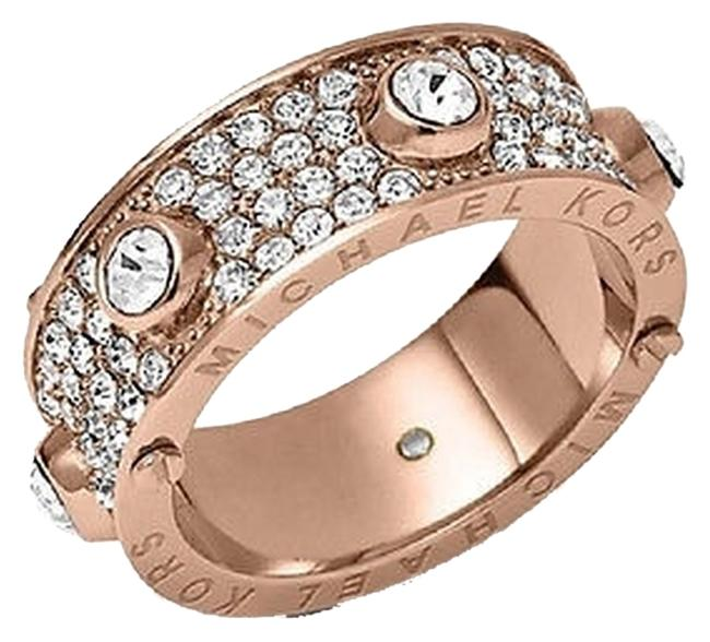 Item - Rose Gold Clear White Silver Ring
