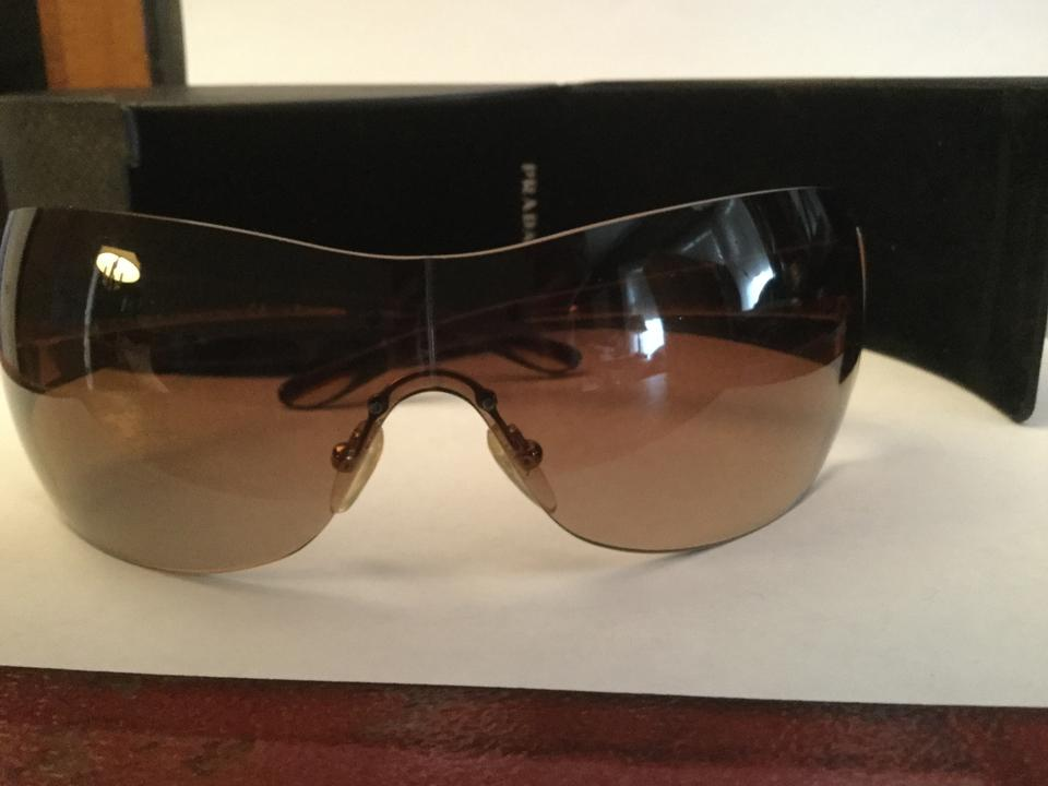 111adc4d77b Prada PRADA AVIATOR WRAP AROUND SUNGLASSES Image 5. 123456