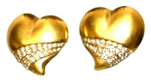 Kisistine Kord Vaj`e Designer 18kt Red Carpet Diamond Heart Earrings