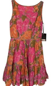 Tracy Feith short dress Pink, Orange, Green on Tradesy