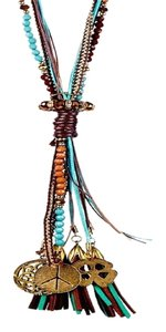 Savvy Cie COACHELLA CHICKS! $275 SAVVY CIE TASSEL BOHEMIAN MULTI LAYER NECKLACE