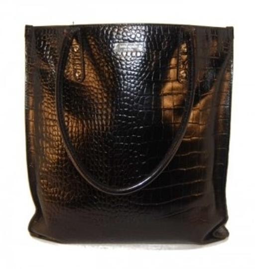 Preload https://item4.tradesy.com/images/kate-spade-black-leather-and-fabric-tote-134678-0-0.jpg?width=440&height=440
