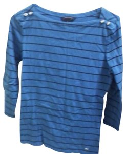 Tommy Hilfiger Top Turquoise blue and black striped