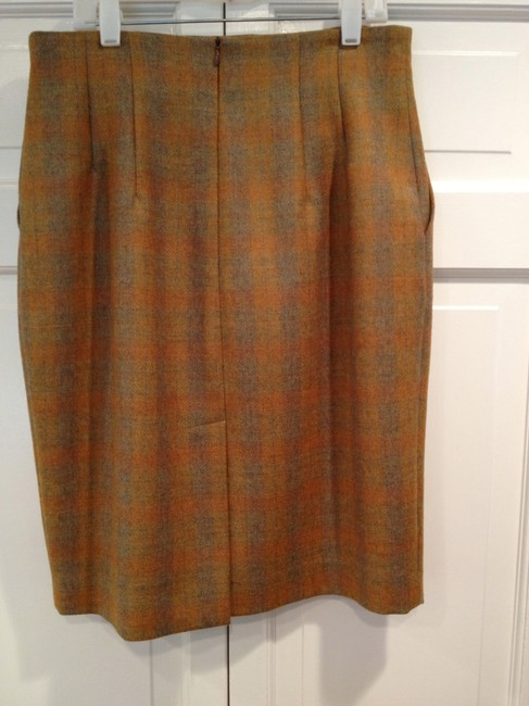 Barbara Bui Vintage Plaid Skirt Carmel