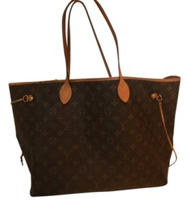 Louis Vuitton Neverfull Neverfull Gm Monogram Luggage Tote in Brown